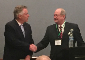 Governor Terry McAuliffe and John W. Jones, Executive Director of the Virginia Sheriffs' Association